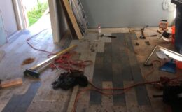 Replaced rimu floor boards